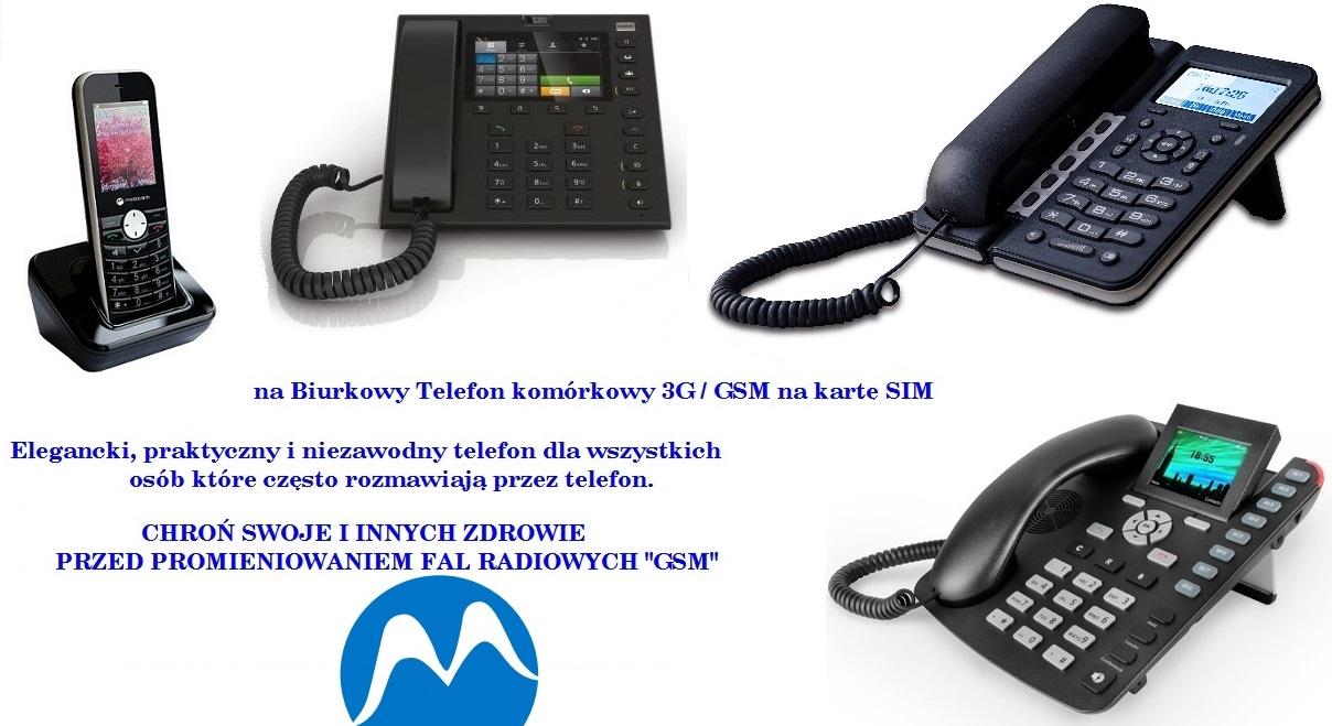 Biurkowe telefony 3G/GSM na kartę SIM